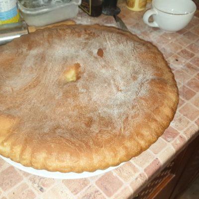 грибной пирог с вешенкой