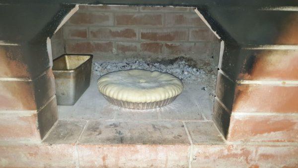 пирог посажен в печь